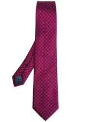 Brioni Linear Shape Tie Pink Purple
