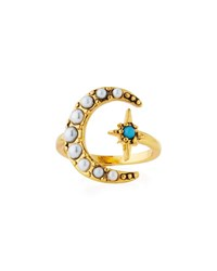 Lulu Frost Tribute Moon And Starburst Ring Gold