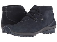 Wolky Arctic Blue Nepal Oiled Leather Women's Waterproof Boots Navy