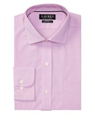 Lauren Ralph Lauren Slim Fit Textured Dress Shirt Pink White