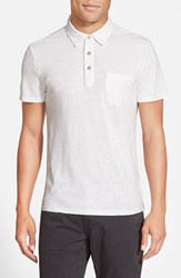 Ag Jeans Men's Ag 'Cliff' Short Sleeve Hemp Polo True White