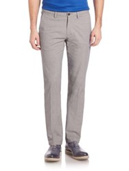 Saks Fifth Avenue Birdseye Chino Pants Grey