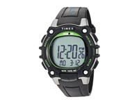Timex Ironman Classic 100 Full Size Resin Strap Black Silver Tone Green Watches