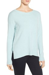 Caslonr Women's Caslon Back Zip High Low Sweater Blue Raindrop