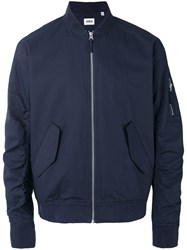 Edwin Flight Jacket Men Cotton Nylon S Blue