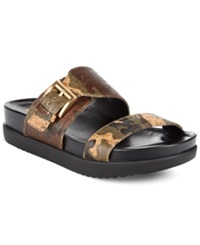 White Mountain Toughguy Footbed Sandals Women's Shoes Camo