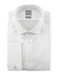 Ike Behar Textured Bib Tuxedo Shirt White