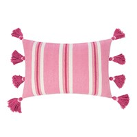 Amara Thick Stripe Tassel Cushion 40X60cm Pink
