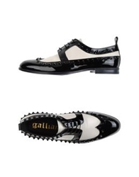 Galliano Lace Up Shoes Black