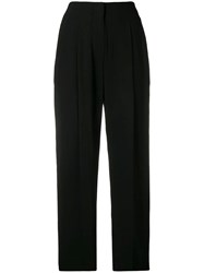 3.1 Phillip Lim Cropped Straight Leg Trousers Black