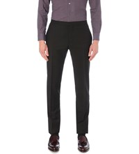 Boglioli Tailored Fit Wool And Mohair Blend Trousers Black