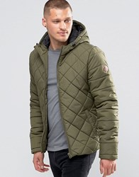 Blend Of America Hooded Quilted Jacket Ivy Green Ivy Green