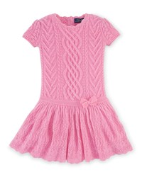 Ralph Lauren Cashmere Cap Sleeve Fit And Flare Sweaterdress Pink