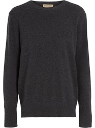 Burberry Embroidered Archive Logo Cashmere Sweater Grey