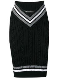 Y Project Knit Sweater Skirt Black