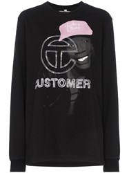Telfar Graphic Print Sweatshirt Black