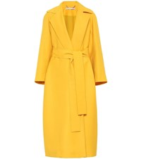 Emilia Wickstead Leia Wool Gabardine Coat Yellow