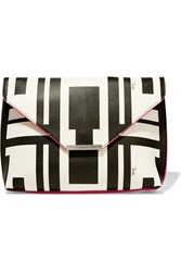 Emilio Pucci Printed Leather Clutch White