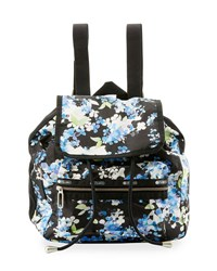 Le Sport Sac Mini Voyager Flap Top Backpack Black Pattern