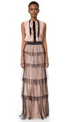 N 21 Ruffle Gown Nude
