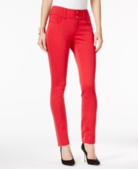 Thalia Sodi Five Pocket Skinny Pants Only At Macy's Lipstick Red
