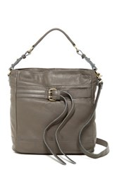 Sondra Roberts Washed Nappa Convertible Shoulder Bag Gray
