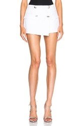 Pierre Balmain Button Mini Shorts In White
