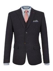 Racing Green Louis Textured Blazer Navy
