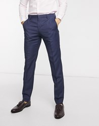 Tommy Hilfiger Wool Regular Fit Trousers Blue