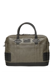 Diesel Coated Techno Canvas Briefcase