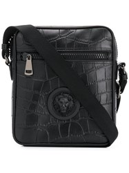Versus Textured Messenger Bag Black