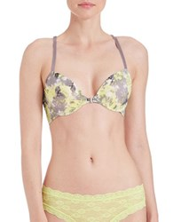 Candc California Chloe Front Close Bra Lime Floral