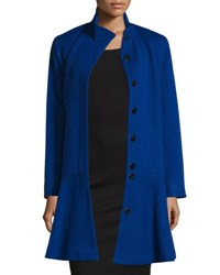 Neiman Marcus Wool Cashmere Princess Flared Coat Black