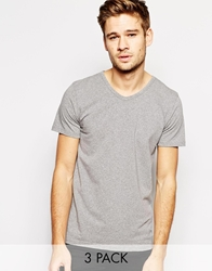 Tommy Hilfiger Stretch Crew Neck T Shirts In 3 Pack Multi