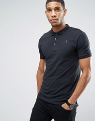 Only And Sons Pique Polo In Slim Fit Dark Navy