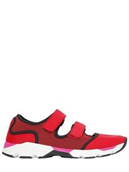 Marni Cotton And Light Nylon Running Sneakers