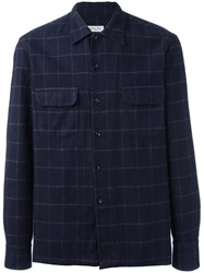 Salvatore Piccolo Checked Shirt Blue