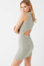Urban Outfitters Uo Bodycon Ribbed Sweater Dress Grey