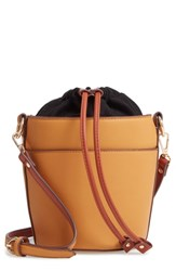 Chelsea 28 Chelsea28 Izzy Faux Leather Bucket Bag Yellow Yellow Gold