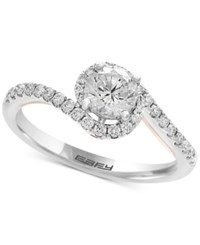 Effy Infinite Love Diamond Twist Engagement Ring 1 Ct. T.W. In 18K White And Rose Gold Two Tone