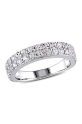 Sterling Silver Pave White Sapphire Band