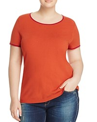 Marina Rinaldi Abbracci Short Sleeve Sweater Rust