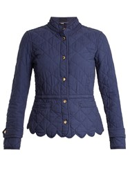 Burberry Wenlock Quilted Cotton Jacket Blue