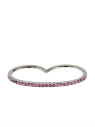 Roberto Marroni Ruby And Oxidised White Gold Double Ring