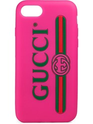 Gucci Print Iphone 7 8 Case Pink And Purple