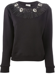 Saint Laurent Western Style Sweatshirt Black
