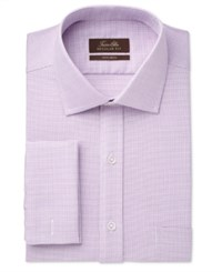 Tasso Elba Men's Classic Regular Fit Non Iron Mulberry Square Texture French Cuff Dress Shirt Only At Macy's