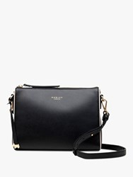 Radley Selby Street Leather Small Zip Top Cross Body Bag Black