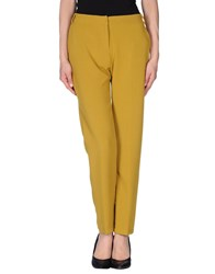 Niu' Trousers Casual Trousers Women Ocher