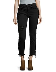 Blank Nyc Fringed Cropped Jeans Black